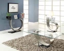 coffee table modern rectangular glass coffee table with curved silver metal base mid century modern