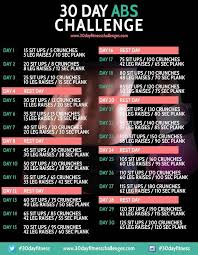 30 Day Abs Challenge Chart Free Download 30 Day Ab Workout