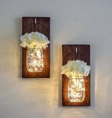 lighted wall sconces farmhouse mason jar decor indoor