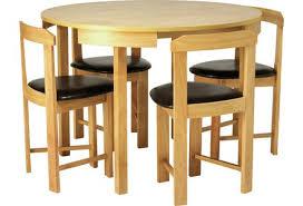 space saving furniture dining table. hygena alena oak circular dining table and 4 chairs space saving furniture