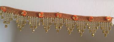 Images Of Designer Torans Beaded Toran On Crochet Lace Decorated With Ribbon Flowers