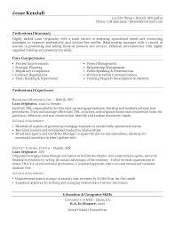 Mortgage Resume Samples Mortgage Loan Officer Resume Commercial