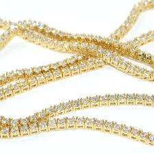 lab diamond chains made small stone gold tennis chain vvs jewelry