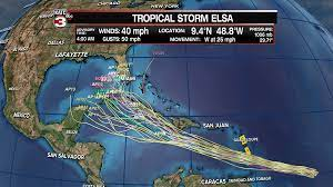 Tropical Storm Elsa becomes fifth storm ...