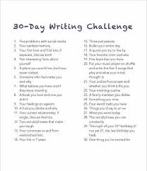 "best writing challenge ideas writing prompts  30 day writing challenge unedited flowing thoughts on the daily topic didn t i already do this in the ""bullet your day"" challenge"