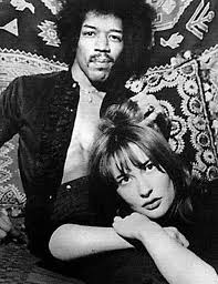 Jimi Hendrix with girlfriend (and muse) Kathy Etchingham.   Jimi ...