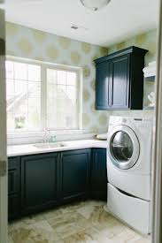 laundry room furniture. Transitional Laundry Room With Sunburst Wallpaper Furniture N
