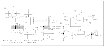 rf wireless pwm dc motor speed control