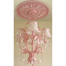 sweet dreams chandelier medallion distressed pink thumbnail 3