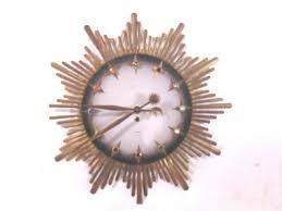 mid century wall clock modern starburst