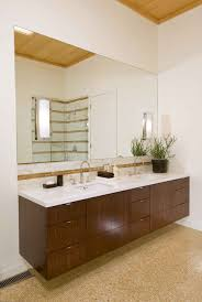 example of floating vanity w side in one corner only | design ...