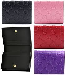 gucci gucci gg icon guccissima leather wallet with business card holder card two fold clamshell