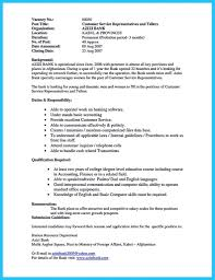 Sample Resume For Bank Teller With No Experience Chicagoredstreak Com