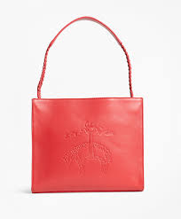 Golden Fleece®-Embossed Leather Handbag