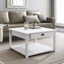 brushed white coffee tables accent