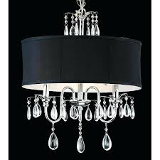 crystal chandelier with black shade eimatco regarding popular property black drum shade crystal chandelier remodel
