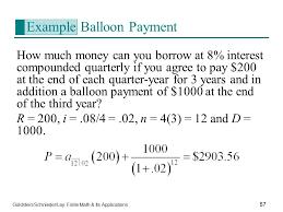 Balloon Payment Formula Rome Fontanacountryinn Com