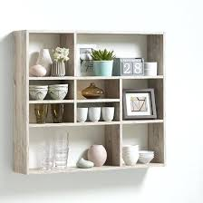 wall mount shelf unit wall mounted shelving unit in sand oak and 9 compartment wall mounted wall mount shelf