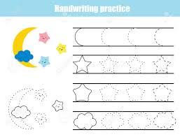 Handwritting Practice Handwriting Practice Sheet Educational Children Game Printable