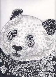 Panda Zentangled Zoo Animal Wildlife Insect Coloring Pages