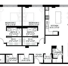 Square Kitchen Floor Plans Luxury Condos Lincoln Park Webster Square Condos