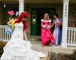Small Picture likefunme Disney Themed Wedding Bride as Ariel and Groom as