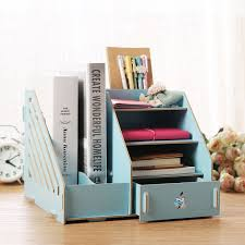 office desk tray. Fashion Candy Color Office Desk Organizer Wood Cabinet DIY Desktop Wooden Storage Box To File Documents-in Boxes \u0026 Bins From Home Garden Tray