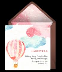 Free Going Away Party Invitations Free Farewell Party Online Invitations Punchbowl