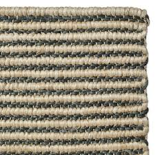 striped hand braided abaca rug teal natural