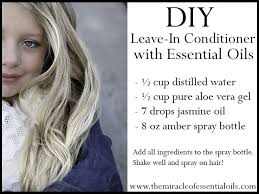 diy essential oil leave in hair conditioner