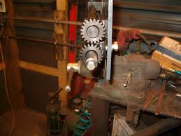 here you can see the bolt threaded into the end of the shaft the shaft is drilled radially as well to allow a 1 4 20 set to bind the threads so the