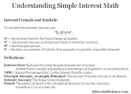 Loan Interest Calculator Awesome How To Calculate Simple Interest Math Calculations
