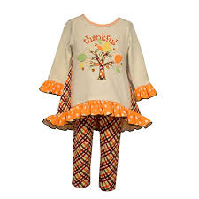 Bonnie Jean Girls Thankful Thanksgiving Outfit 2t 6x