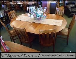 round dining room sets with leaf. Borkholder Amish 60-inch Round Dining Collection Extended With 2 12-inch Leaves Raleigh Chairs Room Sets Leaf