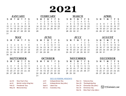 Printable paper.net also has weekly and monthly blank calendars. 2021 Printable Calendar 123calendars Com