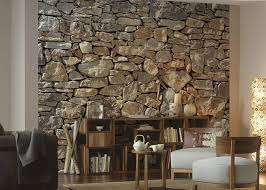 boundary 3d stone wallpaper for drawing room walls