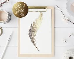 feather real gold foil print wall art illustration art print gold foil art print gold home decor gold wall art gold print  on gold leaf feather wall art with gold wall art etsy