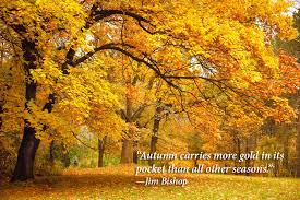 autumn carries more gold quote