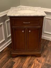 new dark brown bathroon vanity with
