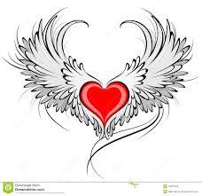 Charmant Dessin D Un Coeur Rouge 10 Ange Coeur Forme Gris Rouge