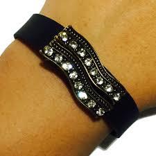 get quotations fitbit flex jewelry to accessorize your fitness activity tracker bracelet wavy gold bronze rhinestone studded