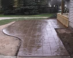 stamped concrete patio cost calculator. Garden:Stamped Concrete Patio Ideas Beautiful Backyard Luxury Of Finishing Options Cobblestone Covering Outdoor Cost Stamped Calculator S