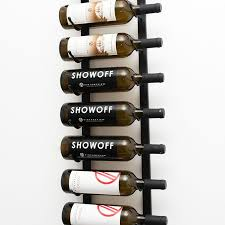 Small wine racks Barrel Ft Wall Series Metal Wine Rack 9 To 27 Bottles Vintageview Wall Series Label Forward Metal Wine Racks Vintageview Wine