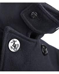 fidelity blue pea coat w anchor on for men lyst