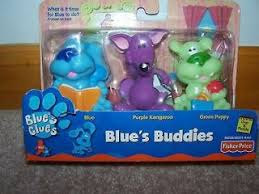 blues clues green puppy plush. Blues Clues Buddies Figures Cake Toppers Kangaroo Green Puppy New Plush