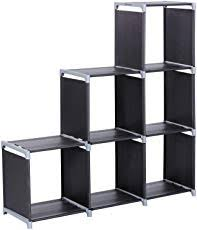 shelf for office. SONGMICS 3-Tier Storage Cube Closet Organizer Shelf 6-Cube Cabinet Bookcase Black ULSN63H For Office E