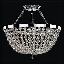 flush mount crystal chandelier. Beaded Semi Flush Mount| Arcadia 45 \u2013 GLOW® Lighting Mount Crystal Chandelier