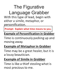 sample packet how to grab a reader s attention writing ldquo grabbers 4 the figurative