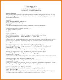 Biology Resume Examples Resumes Biology Resume Examples Academic Curriculum Vitae Example 21