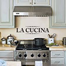 Wall Decoration For Kitchen La Cucina Wall Decal Kitchen Wall Decor Wall Art Wall Sticker For